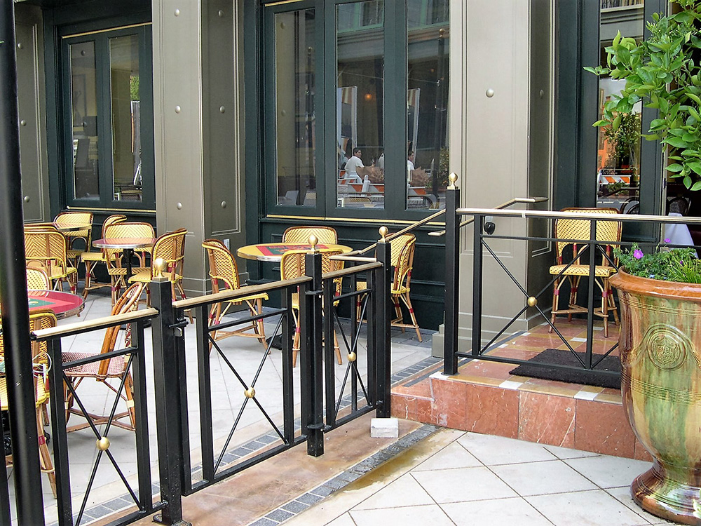 Left Bank At Santana Row: Railings & Gates