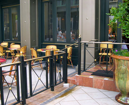 Left Bank At Santana Row: Railings & Gates